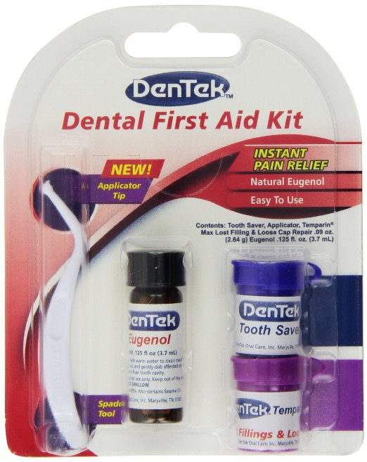 DenTek - Dental First Aid Kit - Applicator, Teeth Saver, Tooth Ache Relief