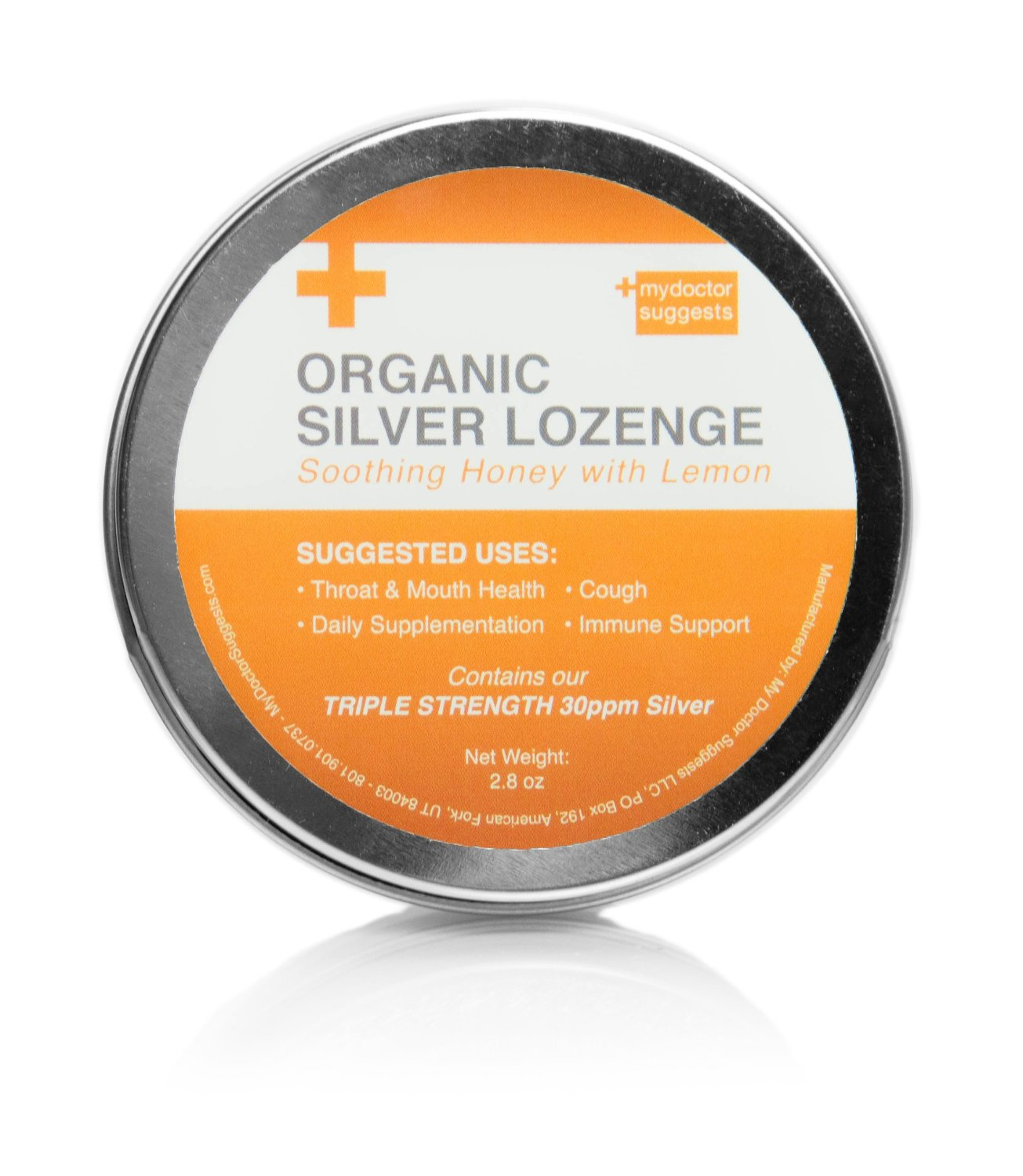Organic Silver Lozenges - Soothing Honey with Lemon