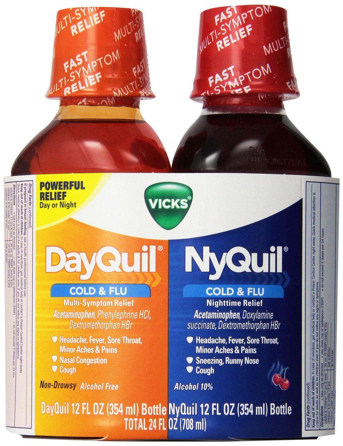 Vicks NyQuil Cold and Flu Nighttime and DayQuil