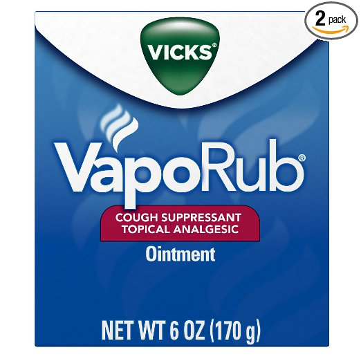 Vicks VapoRub Cough Suppressant Chest and Throat Topical Analgesic Ointment